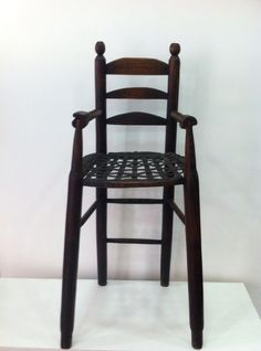 French antique child's high chair