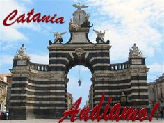 """The two most recurrent Latin mottoes of Catania are readable on the marble tags set on the baroque prospect of the monumental Triumphal Arch Porta Garibaldi (Ferdinandean Gate). They still recite:""""Melior De Cinere Surgo"""" (I Arise Better From My Ashes) and """"Armis Decoratur, Litteris Armatur"""" (Adorned with Weapons, Armed with Letters). Via Garibaldi, Latin Mottos, Italian Proverbs, Baroque Art, Catania, 15th Century, Tower Bridge, World Heritage Sites, Big Ben"""