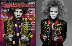 This iconic cover of the legendary guitar god Jimi Hendrix, was selected as one of the 150 greatest Rolling Stone covers of the last 40 years and was featured in an art exhibit in Australia. Recreated by Wildfang.