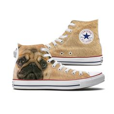 44982729086 Pugs are our most requested Dog shoe so we added this cute pug Converse to  our