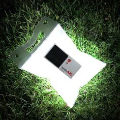 Camping Idea -- LuminAID Inflatable Solar Light - Fully charged after five hours in the sun, it provides eight hours of illumination in a highly portable, waterproof, floatable, and rechargeable LED light. Great for camping! Camping And Hiking, Camping Survival, Emergency Preparedness, Camping Hacks, Camping Gear, Backpacking Gear, Emergency Packs, Emergency Power, Camping Recipes