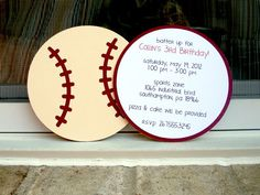 vintage baseball party (or wedding) invitations... especially if we do it at Perfect Game Stadium! Or do ticket stubs