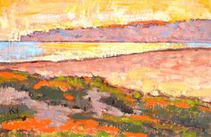 Santa Barbara Sunset Landscape Painting by KevinInmanArt on Etsy