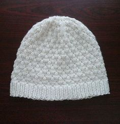 This is an adaptation of my original pattern 'A Hat on Straight Needles'. This one is knitted in Seersucker stitch, which is very easy, and made up of only knit and purl stitches. It& hat pattern free women easy A Hat on Straight Needles: Seersucker Baby Hat Knitting Patterns Free, Knit Beanie Pattern, Baby Hat Patterns, Baby Hats Knitting, Loom Knitting, Knitted Hats, Crochet Patterns, Knitting Needles, Free Pattern