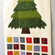 Felt Advent Calendar Patterns | Pattern - Felt Ornament Advent Calendar Pattern, PDF, Christmas Advent ...
