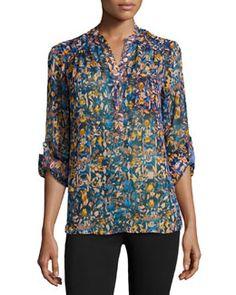 T8YSV nikkies Threads Long-Sleeve Floral-Print Tunic, Amedero