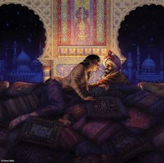 Rimsky-Korsakov's Scheherazade Rene Milot Arabian Art, Romance Art, Islamic Paintings, Fanart, Historical Art, Arabian Nights, Art Plastique, Figure Painting, Erotic Art