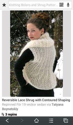0980b9b518fe8 Reversible shrug free knitting pattern