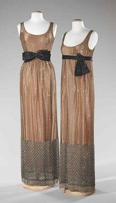 Dress, Evening.  Norman Norell  (American, 1900–1972).  Date: ca. 1963. Culture: American. Medium: silk, rhinestones. Dimensions: Length at CB (a): 61 in. (154.9 cm).