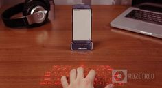 Samsung Galaxy S IV rumored laser keyboard dock.