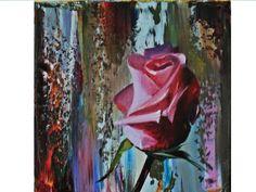 Pictura TRANDAFIR Flower Clipart, Flower Pictures, Cool Artwork, Clip Art, Birds, Floral, Artist, Flowers, Painting