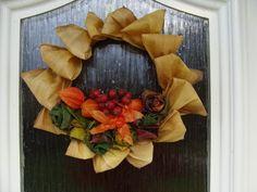 Jesenný venček na dvere, Aranžovanie | Artmama.sk