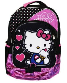 Hello Kitty Backpack - Black/Pink, 16""