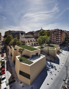 Joan Maragall Library in Barcelona / by BCQ Arquitectura Barcelona (photo by Ariel Ramírez) architectur ext, joan maragal, arquitectura barcelona, barcelona spain