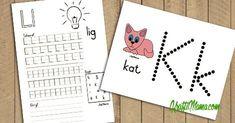Afrikaans Alfabet Verniet- A Hersien! Grade R Worksheets, Alphabet Worksheets, Alphabet Activities, Teaching Activities, Preschool Worksheets, Preschool Learning, Printable Alphabet Letters, Alphabet For Kids, Visual Perception Activities
