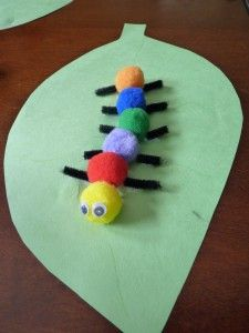 Adorable caterpillar art - a simple kid's crafts