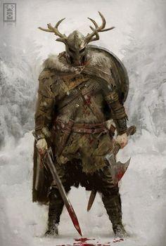 fantasy-art-engine:  Warrior by Joseph McLamb