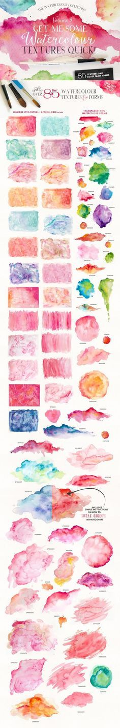 Give Me Watercolour Textures Quick! ~ Textures on Creative Market. 2015. Give Me…