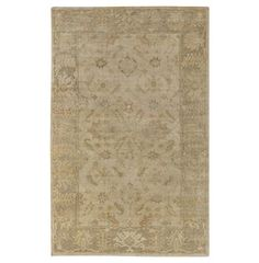 Jancourt French Country Sky Blue Gold Hand Knotted Wool Rug. #kathykuohome