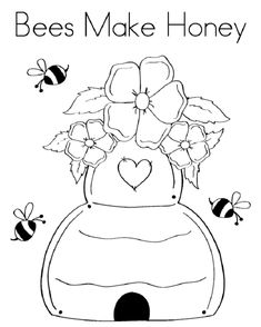 59 Best Bee Coloring Pages Images Bee Coloring Pages Bees