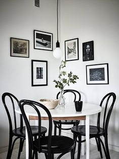 T.D.C: thonet chairs, art + pendant light