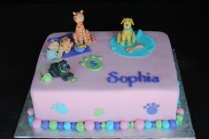 Cats and dogs cake