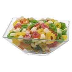Daca vrei sa iti aduci aminte de copilarie folosesti jeleurile suzeta cu multiple arome la petrecerea ta.Chiar daca preferi sa sugi  aceste suzete sau sa musti din ele, trebuie sa te astepti la un gust de fructe acrisor. Fruit Salad, Food, Fruit Salads, Essen, Meals, Yemek, Eten