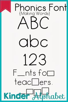 32 Phonics Fonts for Teachers-This is awesome.word shapes, holiday shapes, etc. School Classroom, Classroom Ideas, Teacher Fonts, Making Words, Classroom Management, Phonics, Cool Words, School Ideas, Kindergarten