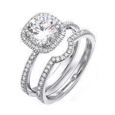 diamond pave halo wedding rings - Bing Images
