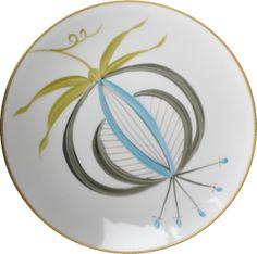 ASSIETTE JARDINS D'UDAIPUR GRANDE FLEUR (Assiettes, -Caki (34) / Bleu Lagon (24) / Vert Olive (36) GF2) | Marie daage