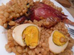 Zsanuária: Sólet... Grains, Rice, Eggs, Beef, Breakfast, Food, Meat, Morning Coffee, Essen
