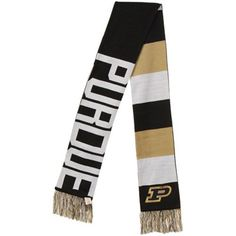 '47 Brand Purdue Boilermakers Baker Scarf - Black/White/Old Gold