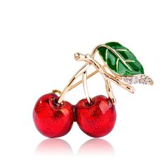 Red Enamel Brooch For Women //Price: $9.95 & FREE Shipping //     #sale