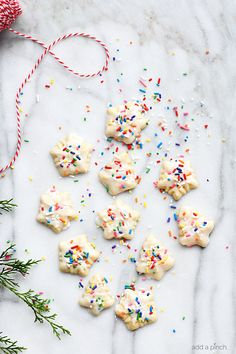 Classic Buttery Spritz Cookies make an easy delicious buttery cookie that comes together quickly! Perfect for special occasions and holidays, these spritz cookies are a favorite! Christmas Desserts, Christmas Treats, Christmas Baking, Holiday Treats, Holiday Recipes, Christmas Holidays, Christmas Cookies, Holiday Baking, Holiday Gifts