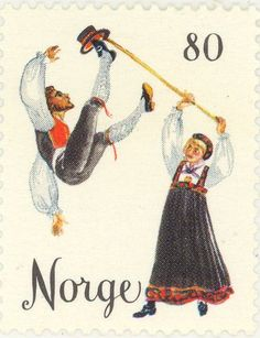 "Stamp: ""Halling"" Hallingdal (Norway) (Folk dances) Mi:NO 733 Sons Of Norway, Postage Stamp Art, Visit Norway, Folk Dance, First Day Covers, Love Stamps, Picture Cards, Christmas Images, Mail Art"