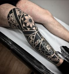 Best Half Sleeve Leg Tattoo Designs - Best Leg Tattoos For Men: Cool Lower, Uppe. Cute Thigh Tattoos, Best Leg Tattoos, Floral Thigh Tattoos, New Tattoos, Tribal Tattoos, Leg Sleeve Tattoo, Leg Tattoo Men, Calf Tattoo, Arm Tattoos For Women