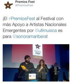 ¡Muchas felicidades! ¡Bien merecido Sonorama Ribera! #PremiosFest