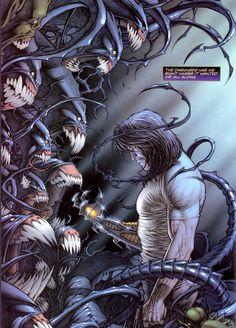 Jackie Estacado, The Darkness by Dale Keown Comic Book Artists, Comic Artist, Comic Books Art, Marvel Dc, Marvel Entertainment, Image Comics, Comics Universe, Dark Horse, Anime Comics