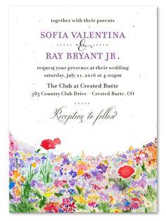 wildflowers wedding invitations - Bright & Happy
