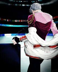 Love On Ice, ユーリ!!! On Ice, Manga Boy, Me Anime, Anime Guys, Yuri On Ice Fondos, Magic Anime, Yuri X Victor, Yuri On Ice Comic
