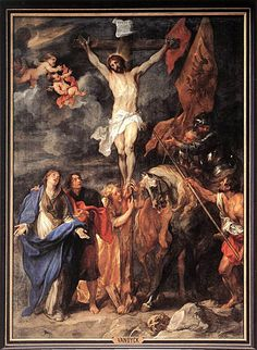 Crucifixion - Anthony van Dyck - 54 Paintings of the Passion, Death and Resurrection of Jesus Christ Anthony Van Dyck, Sir Anthony, Catholic Art, Religious Art, Transfiguration Of Jesus, La Passion Du Christ, Anton Van, Jesus Resurrection, Biblical Art