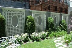 - Accents of France – Treillage Big Backyard, Backyard Pergola, Backyard Landscaping, Cheap Pergola, Pergola Kits, Pergola Ideas, Garden Trellis, Garden Fencing, Trellis Fence