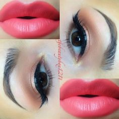 Perfect glowing Spring look☀ ✨EYES:✨ 1⃣Mac Tan pigment applied wet all over the lid 2⃣Mac Texture & Swiss Chocolate in the crease 3⃣Mac Soft Brown to blend it out 4⃣UD W.O.S. on the brow bone 5⃣Maybelline gel liner + Red Cherry 43 lashes 6⃣Texture on the lower lash line 7⃣UD Half Baked on the inner corner ✨LIPS✨ Nyx Orange lip liner + Mac Ablaze lipstick + Korres Guava lip butter @thebeautybox1211