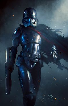 Captain Phasma - Star Wars fan art by Benny Kusnoto More Star Wars: The Force Awakens fan art on my tumblr [here]