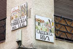 Calle de la Torrecilla del Leal.  Calle de la Rosa