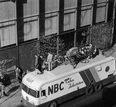 Equipo móvil de la NBC color, 1954.