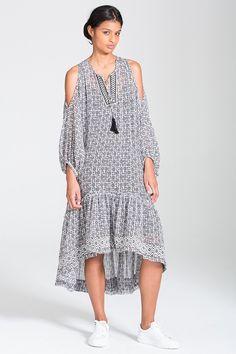 Printed Kafa Midi Dress
