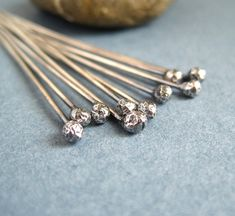 by Staci L. Smith   The first Art Jewelry Challenge of the year will be on making your own balled head pins. (see last weeks post  f...
