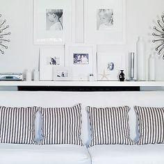 Black and White Pillows: stripes
