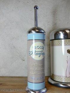 Balayette WC Brosse magique, déco vintage, Natives